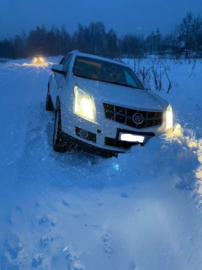 Вытащить машину из снега